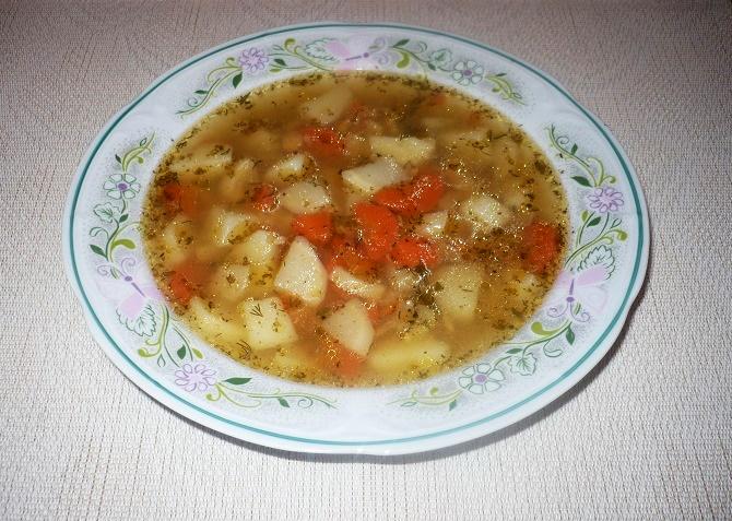 Zupa z żółtym groszkiem